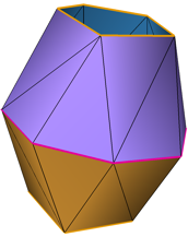 Simplified model with 26 triangles